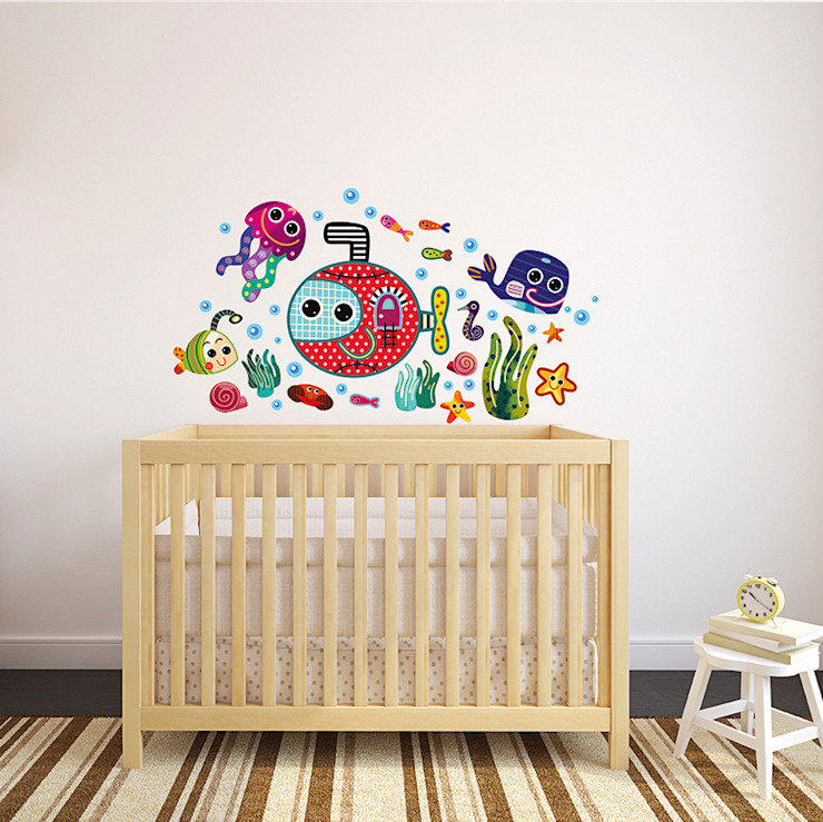 Underwater Nursery Wall Stickers by Witty Doodle di Witty Doodle Moderno