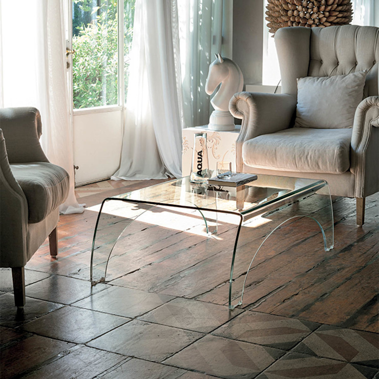 'Bridge' Curved glass coffee table by Target Point de My Italian Living Moderno