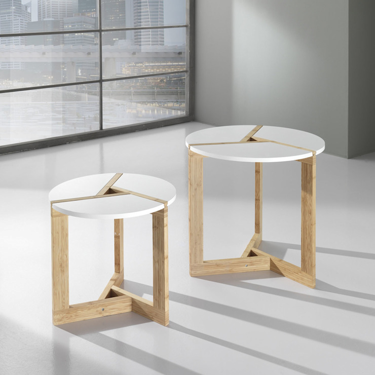 'Round' wooden 2 piece coffee table set by Tomasucci de My Italian Living Moderno