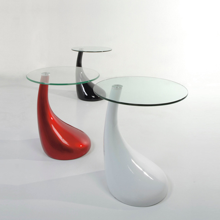 'Pop' Round white/red/black/grey resin coffee table by Tomasucci de My Italian Living Moderno
