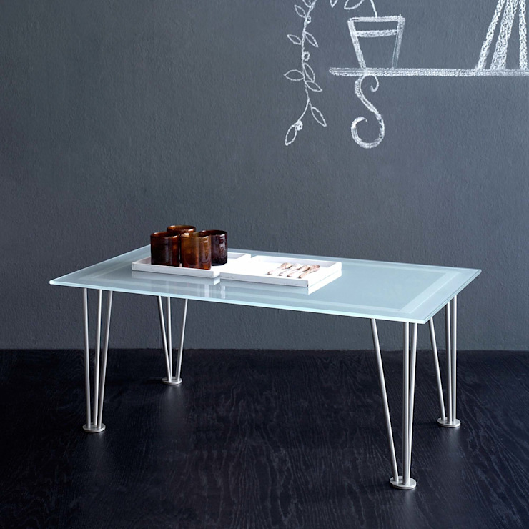 'Vega' iron coffee table with glass top by Cosatto de My Italian Living Moderno