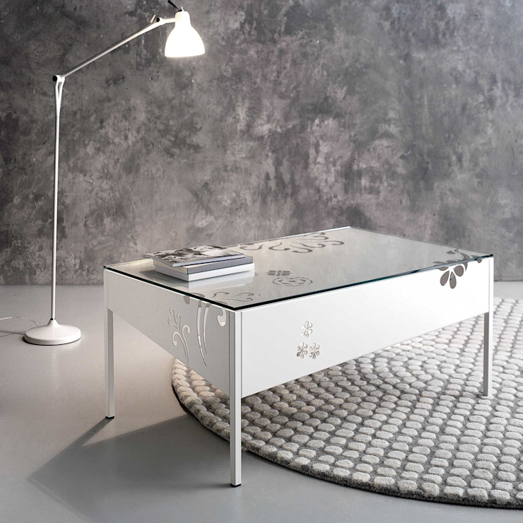 'Primula' iron coffee table with glass top by Cosatto de My Italian Living Moderno