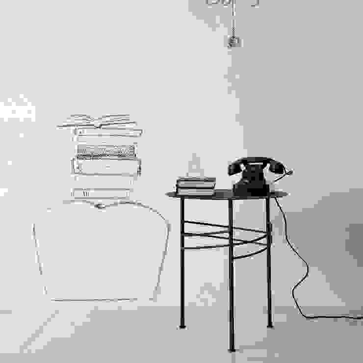 'Ariel' Slimline metal narrow side table by Cosatto de My Italian Living Moderno