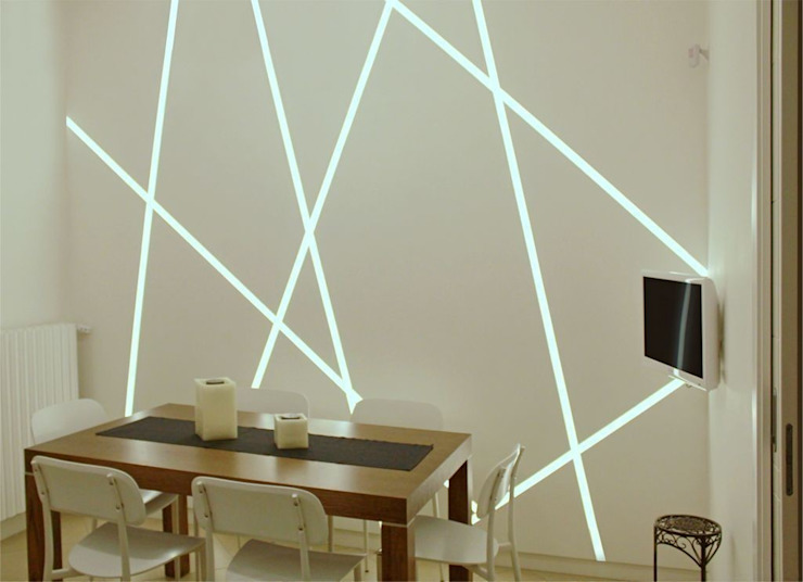 Roma House|2012 Sala da pranzo minimalista di AMN studio Minimalista