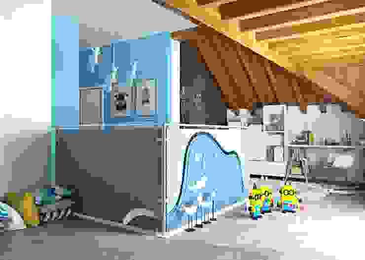 """Piano sottotetto - Kid's floor - la stanza del """"Piccolo Principe"""" valentina bandera STUDIO Stanza dei bambini moderna"""