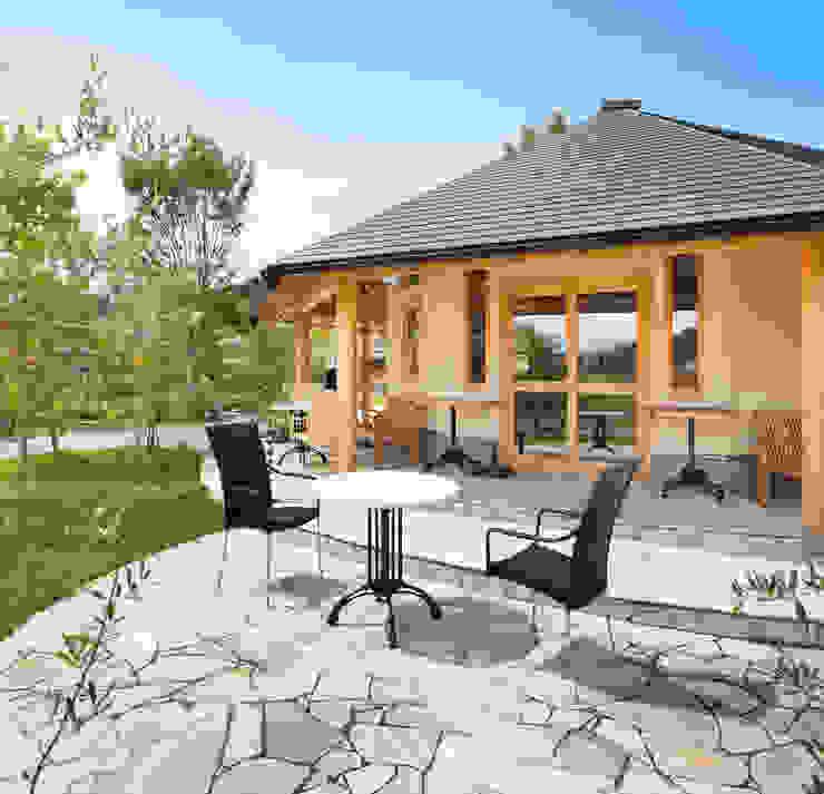 ひなた茶屋~雑木林の小さなカフェ~ オリジナルデザインの テラス の 志賀建築設計室 オリジナル