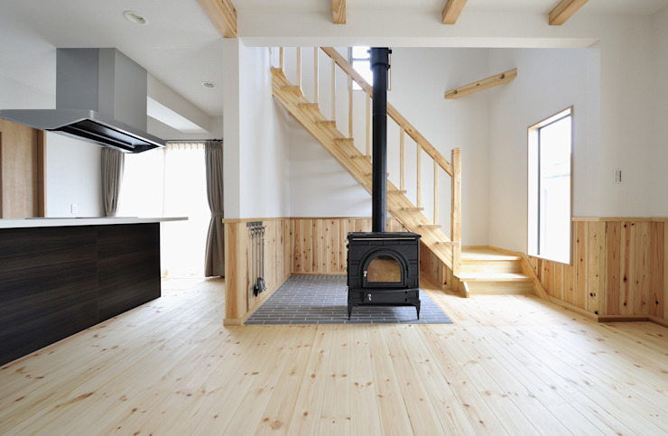 神石高原の家: ATELIER IDEAが手掛けたリビングです。,オリジナル
