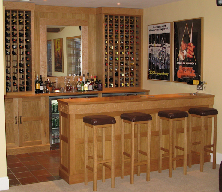 Home Bar Classic style wine cellar by Nick Clarke, Cabinet Maker & Designer Classic