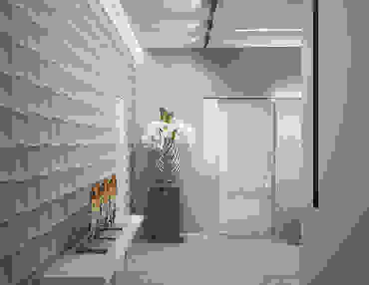 Квартира в Москве Коридор, прихожая и лестница в стиле минимализм от Дизайн - студия Пейковых Минимализм