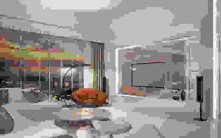 Двухуровневая квартира в Севастополе: Гостиная в . Автор – Дизайн - студия Пейковых, Эклектичный