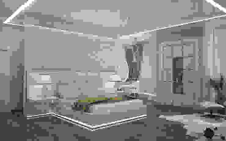Двухуровневая квартира в Севастополе Спальня в эклектичном стиле от Дизайн - студия Пейковых Эклектичный