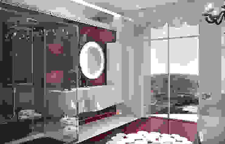 Двухуровневая квартира в Севастополе Ванная комната в эклектичном стиле от Дизайн - студия Пейковых Эклектичный
