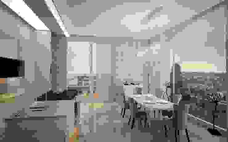 Двухуровневая квартира в Севастополе Кухни в эклектичном стиле от Дизайн - студия Пейковых Эклектичный