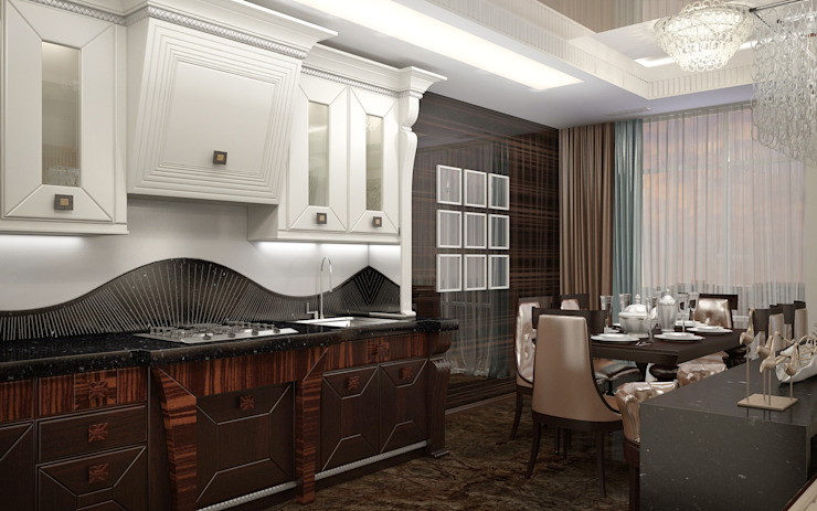 Квартира в Ялте Кухни в эклектичном стиле от Дизайн - студия Пейковых Эклектичный