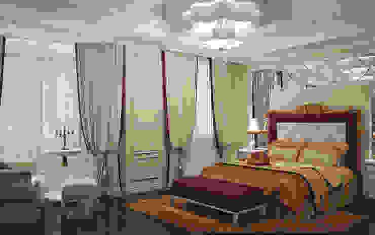 Квартира в Ялте Спальня в эклектичном стиле от Дизайн - студия Пейковых Эклектичный