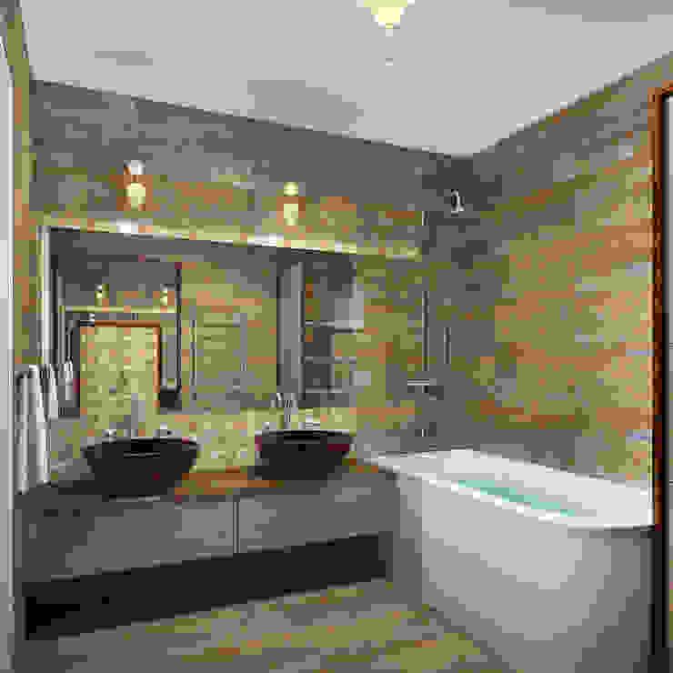 Квартира в Ялте Ванная комната в эклектичном стиле от Дизайн - студия Пейковых Эклектичный