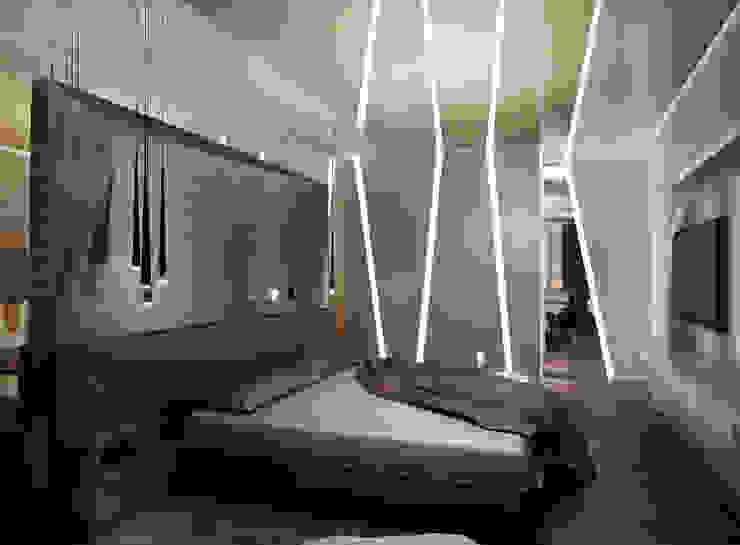 Квартира в Москве Спальня в эклектичном стиле от Дизайн - студия Пейковых Эклектичный