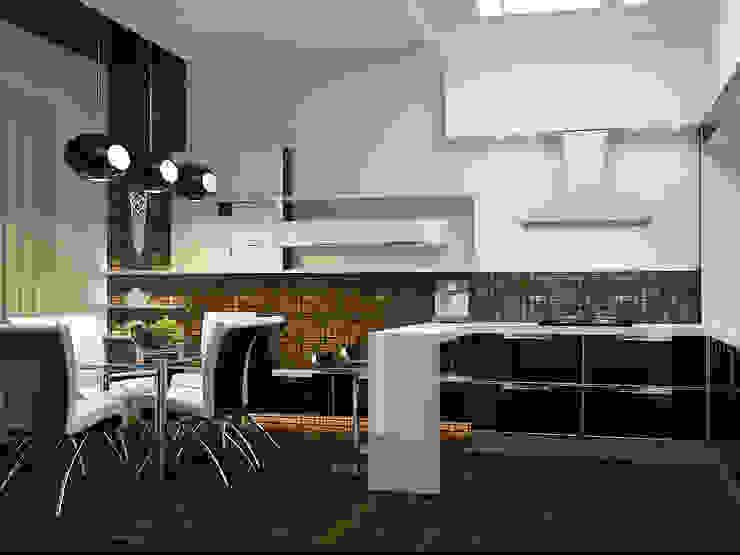 Квартира в Праге Кухни в эклектичном стиле от Дизайн - студия Пейковых Эклектичный