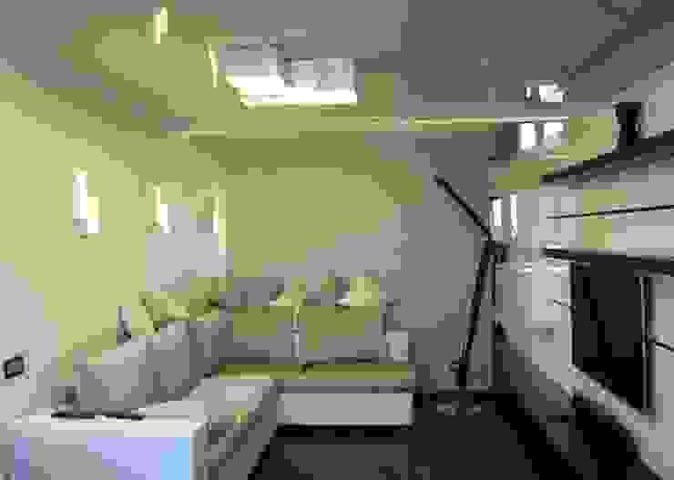 Квартира в Москве Гостиная в стиле минимализм от Дизайн - студия Пейковых Минимализм