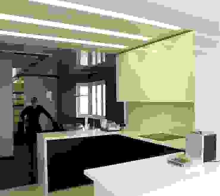 Квартира в Москве Кухня в стиле минимализм от Дизайн - студия Пейковых Минимализм