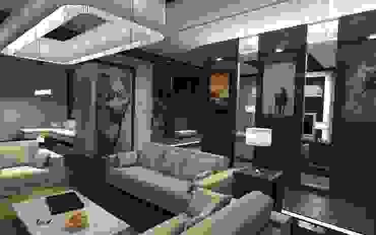 Квартира в Праге Гостиные в эклектичном стиле от Дизайн - студия Пейковых Эклектичный