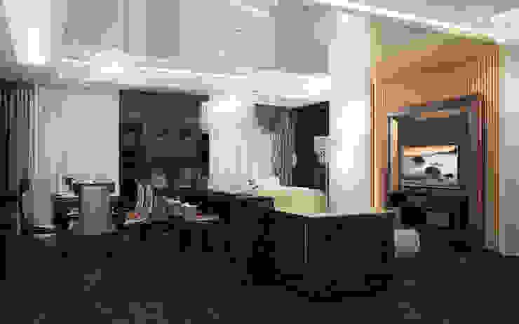 Квартира в Ялте Гостиные в эклектичном стиле от Дизайн - студия Пейковых Эклектичный