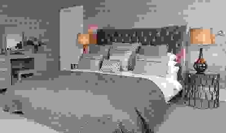 Walton Grange Indigo Acre INTERIORS Ltd DormitoriosCamas y cabeceros