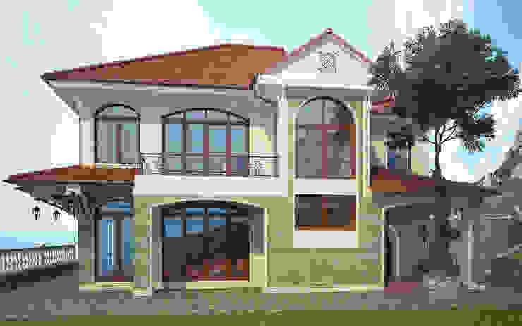 Коттедж на мысе Сарыч Дома в средиземноморском стиле от Дизайн - студия Пейковых Средиземноморский