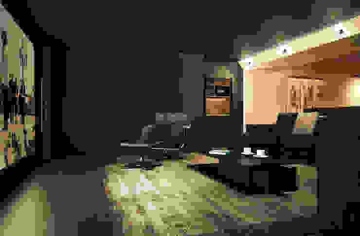 Minimalist media room by Дизайн - студия Пейковых Minimalist