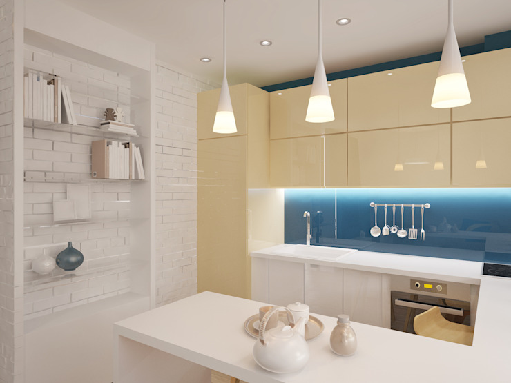 Кваритра-студия Кухня в стиле минимализм от mysoul Минимализм