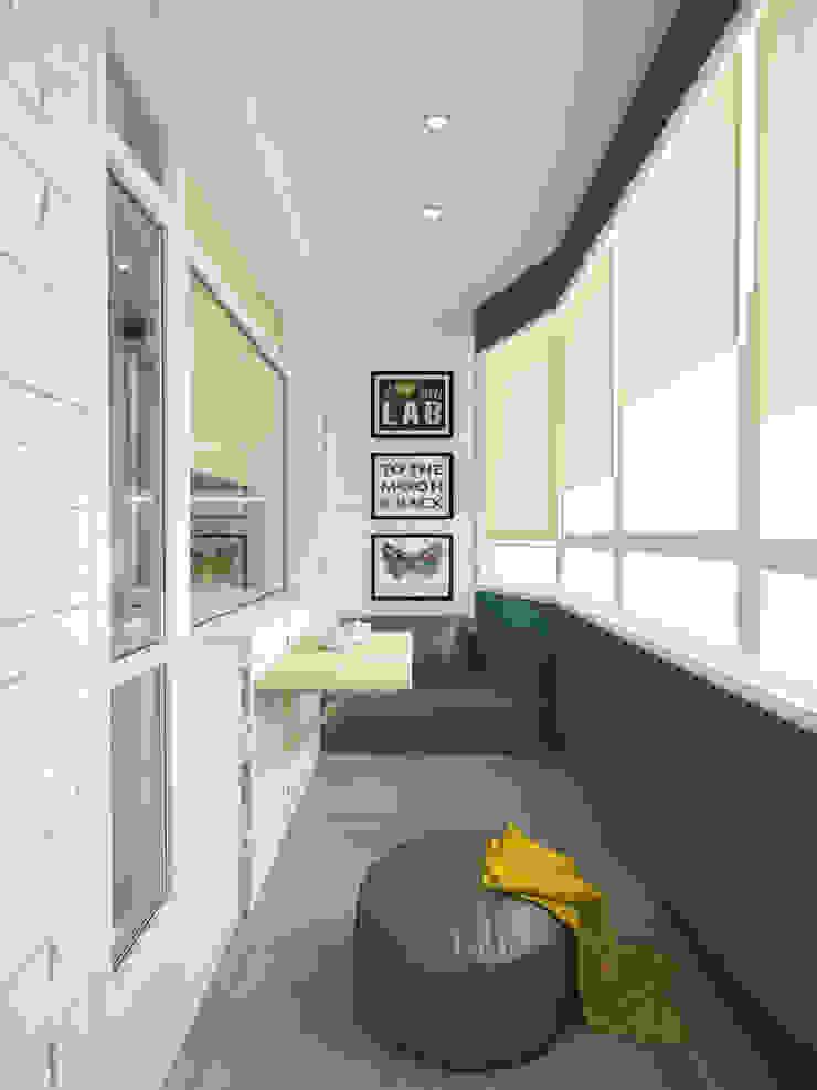 Балкон Балкон и терраса в стиле минимализм от mysoul Минимализм