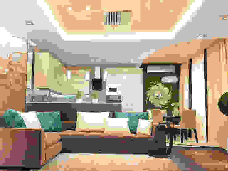 Кухня-гостиная Гостиная в классическом стиле от mysoul Классический