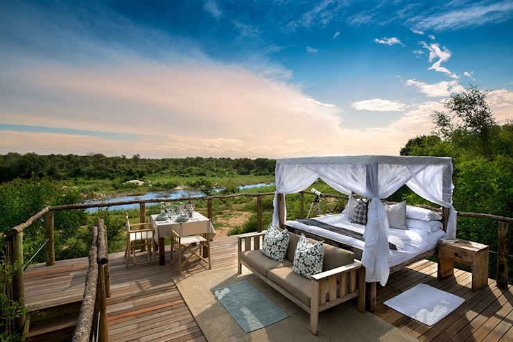 Verblijf midden in het wilde Zuid-Afrika bij Lion Sands in een boomhut Rustieke hotels van TreeGo Boomhut Bouwers Rustiek & Brocante