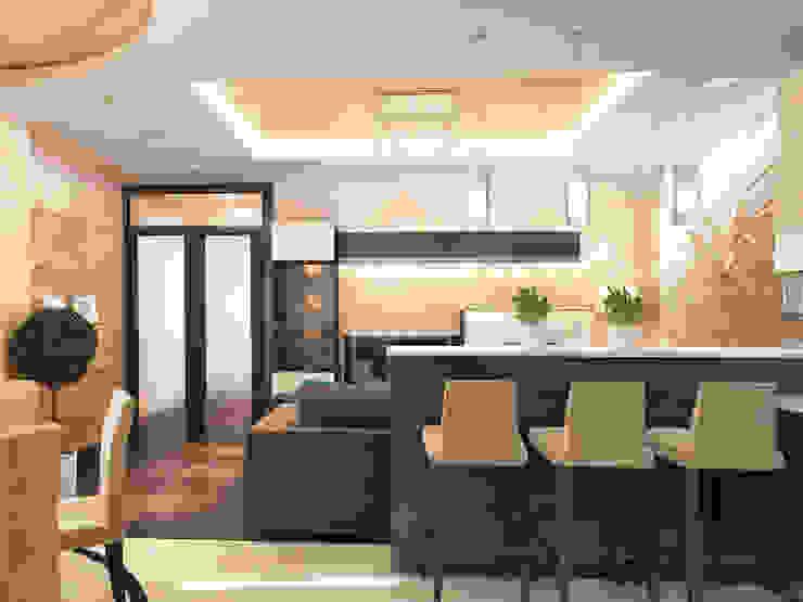 Кухня-гостиная Кухня в классическом стиле от mysoul Классический