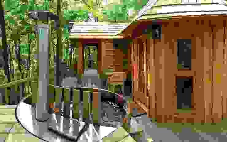 Letterlijk baden in luxe! In je eigen jacuzzi bij je boomhut. Landelijke hotels van TreeGo Boomhut Bouwers Landelijk
