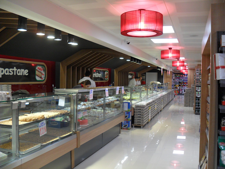 Modern offices & stores by Darya Mimarlık Proje Hizmetleri İnş.Sa.Tic.Ltd.Şti. Modern