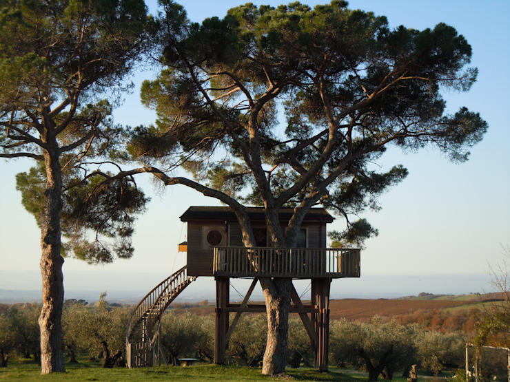 Ultra luxe en bijzondere architectuur bij La Piantata in Italie Landelijke hotels van TreeGo Boomhut Bouwers Landelijk
