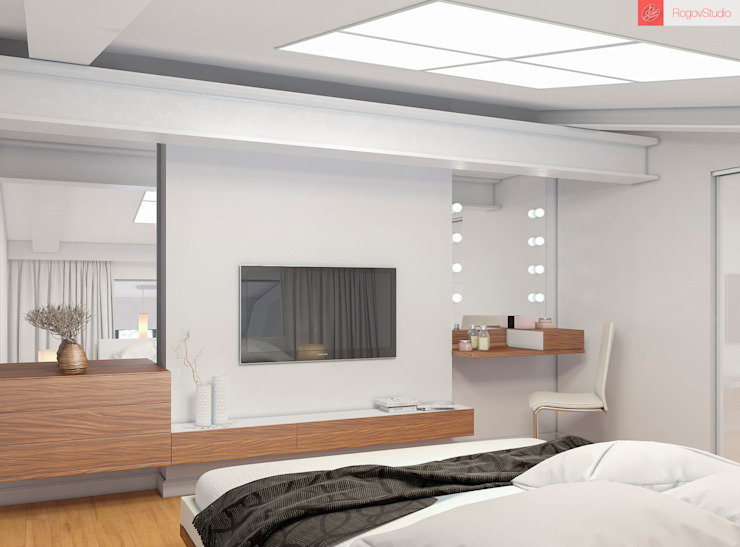 Minimalist bedroom by RogovStudio Minimalist