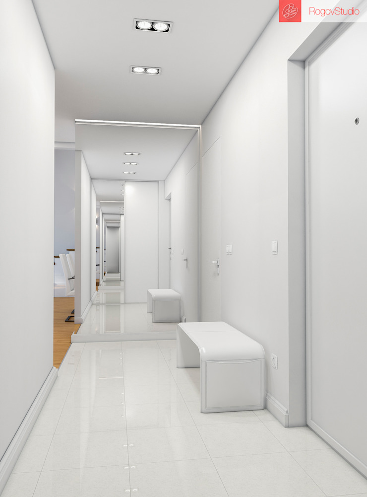 2+1 Коридор, прихожая и лестница в стиле минимализм от RogovStudio Минимализм