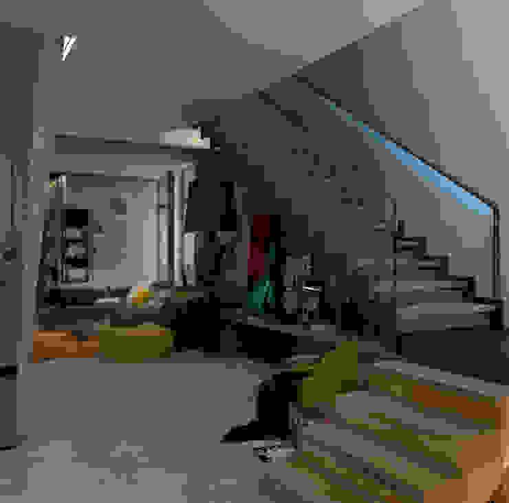 Коттедж в Подмосковье Коридор, прихожая и лестница в стиле лофт от Дизайн - студия Пейковых Лофт