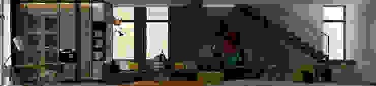 Коттедж в Подмосковье Гостиная в стиле лофт от Дизайн - студия Пейковых Лофт