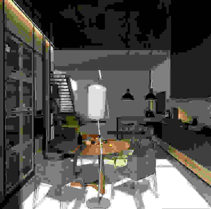 Cozinhas industriais por Дизайн - студия Пейковых Industrial