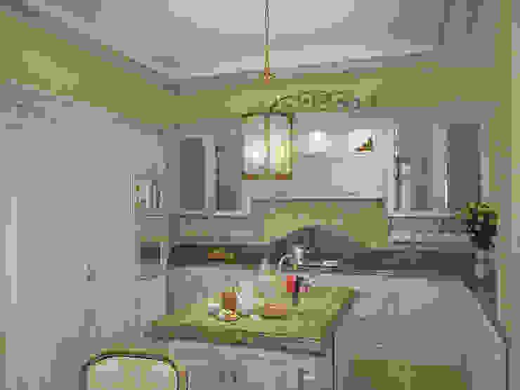 Коттедж в Форосе Кухня в классическом стиле от Дизайн - студия Пейковых Классический