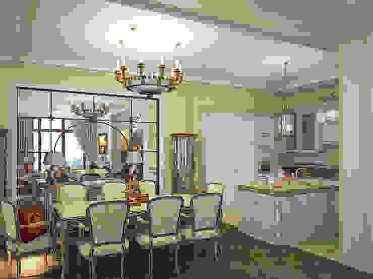 Коттедж в Форосе Гостиная в классическом стиле от Дизайн - студия Пейковых Классический