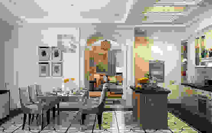 Коттедж в Любимовке Кухни в эклектичном стиле от Дизайн - студия Пейковых Эклектичный