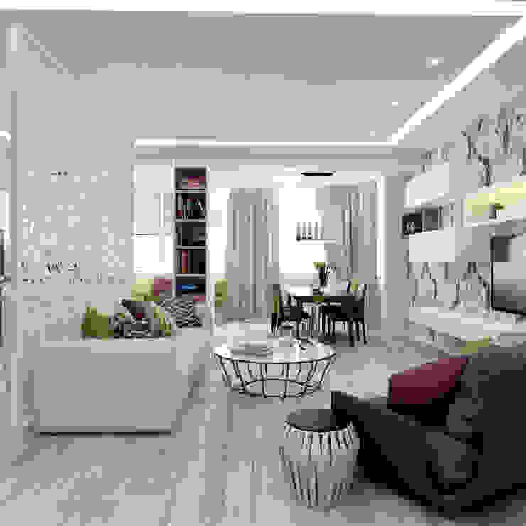 Квартира на Кутузова Гостиная в стиле модерн от ООО 'Студио-ТА' Модерн