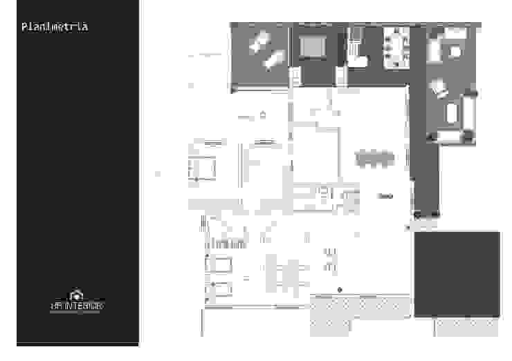 Una abitazione anni '70 riportata a nuovo splendore Case moderne di HP Interior srl Moderno