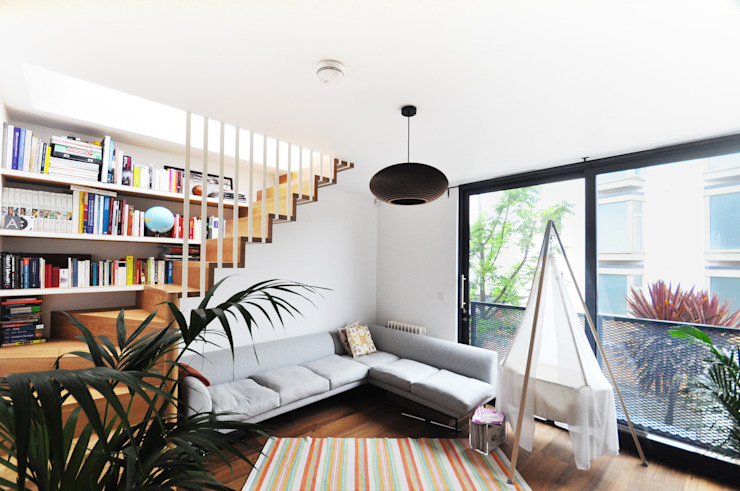 KINGSLAND ROAD Modern living room by E2 Architecture + Interiors Modern
