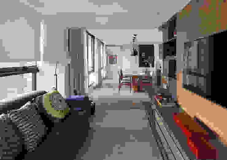 Ruang Keluarga Modern Oleh MANDRIL ARQUITETURA E INTERIORES Modern