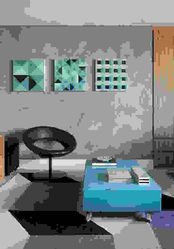 MANDRIL ARQUITETURA E INTERIORES Modern media room
